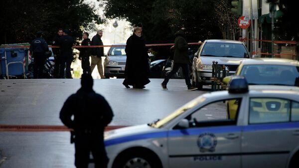Сотрудники полиции в Афинах, Греция