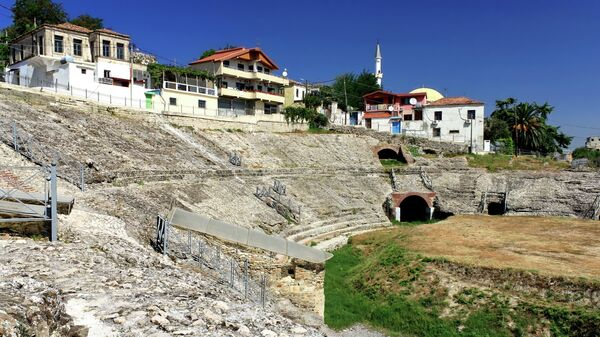 Античный амфитеатр в Дурресе, Албания