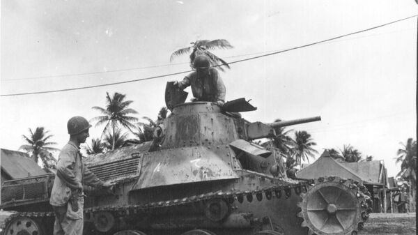 Ха-Го, захваченный американскими войсками на острове Ио