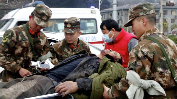 Пострадавший после взрыва на химзаводе в китайской восточной провинции