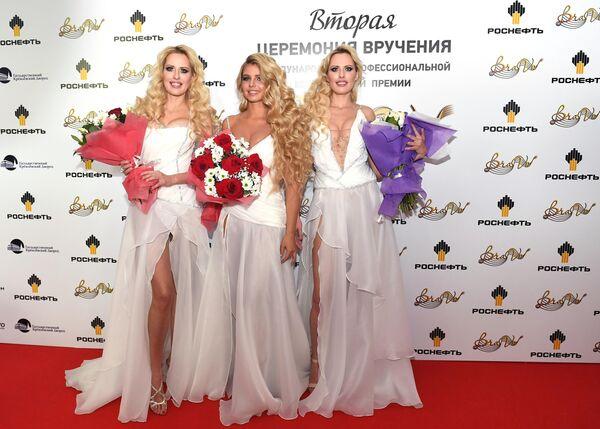 Группа Квинс (Queens) во время церемонии вручения музыкальной премии BraVo в Москве