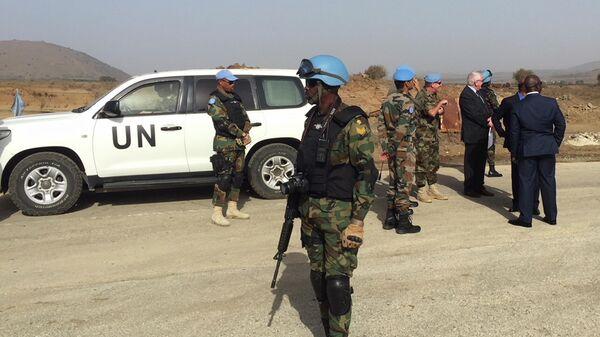 Сотрудники миссии ООН на Голанских высотах