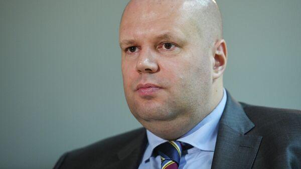 Заместитель руководителя Аппарата правительства РФ Юрий Любимов во время интервью в Москве