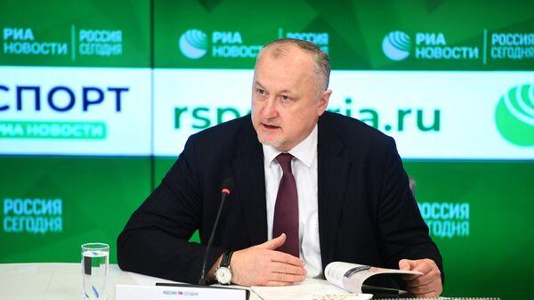 Генеральный директор РУСАДА Юрий Ганус на пресс-конференции в Международном мультимедийном пресс-центре МИА Россия сегодня в Москве. 26 марта 2019