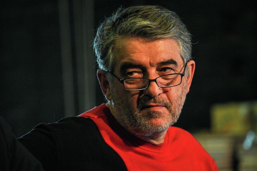 Евгений Каменькович на режиссерской конференции в ГИТИСе