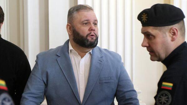 Юрий Мель во время судебного заседания в Вильнюсе