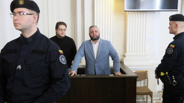 Юрий Мель во время судебного заседания в Вильнюсе. 27 марта 2019