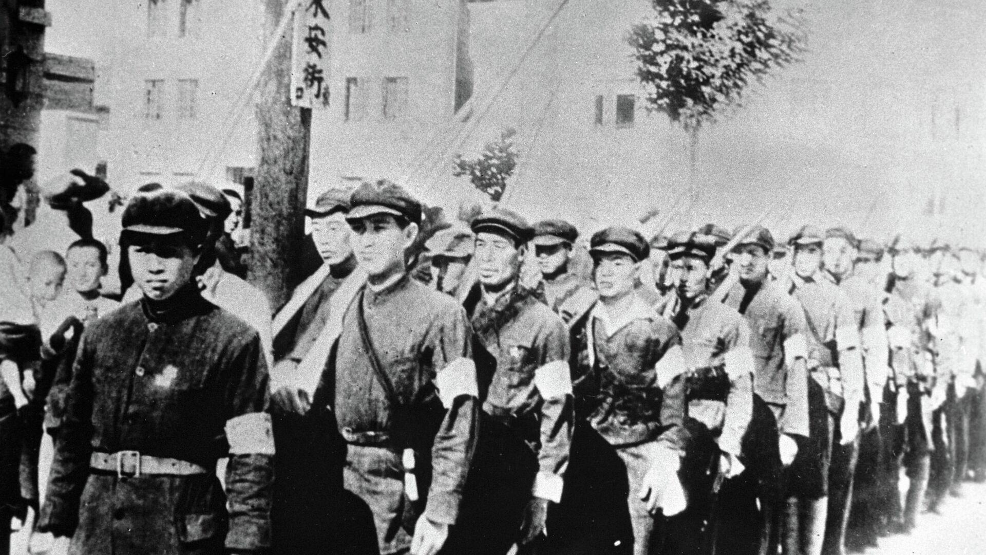 Рабочие и крестьянские вооруженные отряды Китая во время войны с империалистической Японией. 1945 год  - РИА Новости, 1920, 20.04.2020