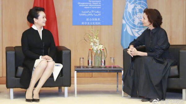 Пэн Лиюань на заседании ЮНЕСКО по женскому образованию