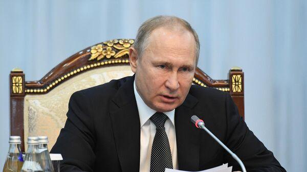 Владимир Путин во время российско-киргизских переговоров. 28 марта 2019