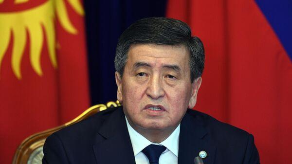 Президент Киргизии Сооронбай Жээнбеков