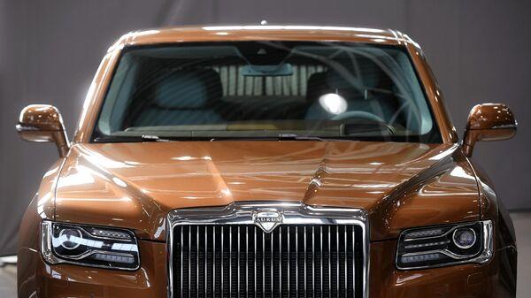 Автомобиль Aurus в Государственном научном центре РФ ФГУП НАМИ в рамках проекта Открой#Моспром в Москве