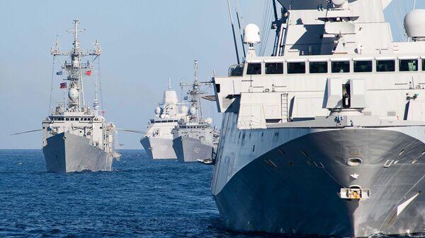 Корабли НАТО, вошедшие для учений в Черное море