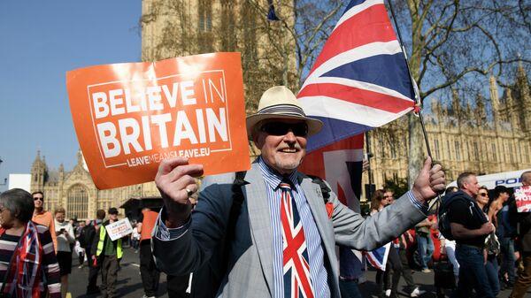 Участники акции сторонников Brexit в Лондоне. 29 марта 2019
