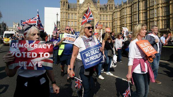 Акция сторонников Brexit в Лондоне. 29 марта 2019