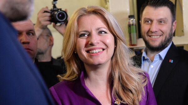 Кандидат в президенты, адвокат, заместитель председателя внепарламентской либеральной партии Прогрессивная Словакия Зузана Чапутова
