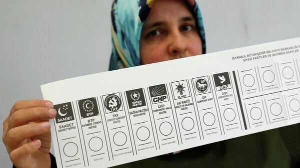 На избирательном участке в Стамбуле, Турция