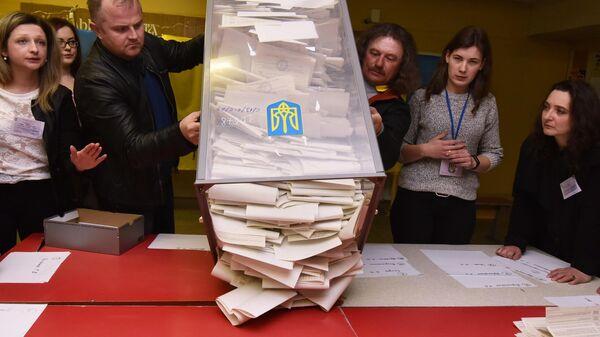 Подсчет бюллетеней на избирательных участках во Львове. 31 марта 2019