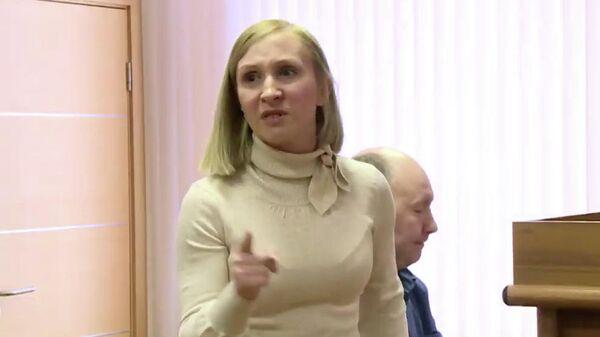 Елена Барабанщикова в зале суда