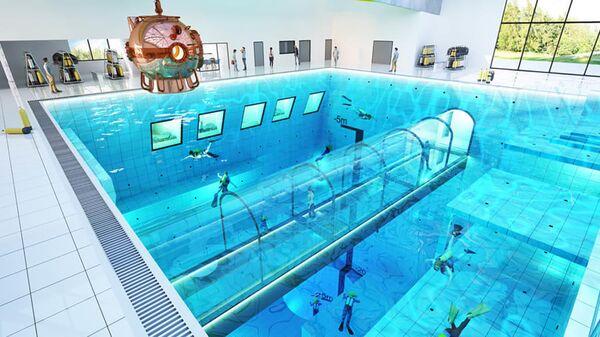 Проект самого глубокого бассейна в мире DeepSpot