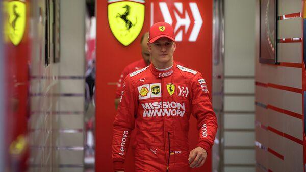 Мик Шумахер на тестах в Бахрейне в составе команды Феррари