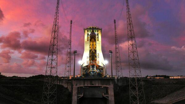 Стартовый стол космодрома Куру во Французской Гвиане