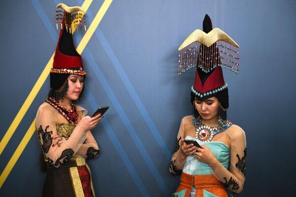 Участницы Красноярского экономического форума 2019 в Международном выставочно-деловом центре Сибирь
