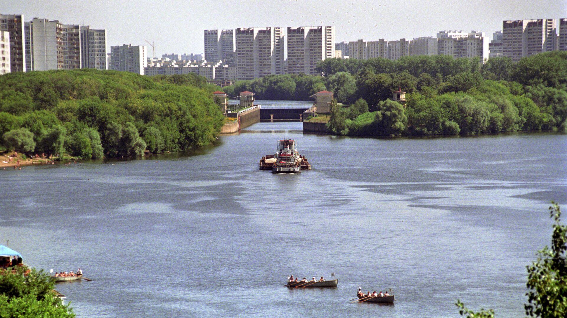 Москва-река в районе Капотни - РИА Новости, 1920, 03.07.2019