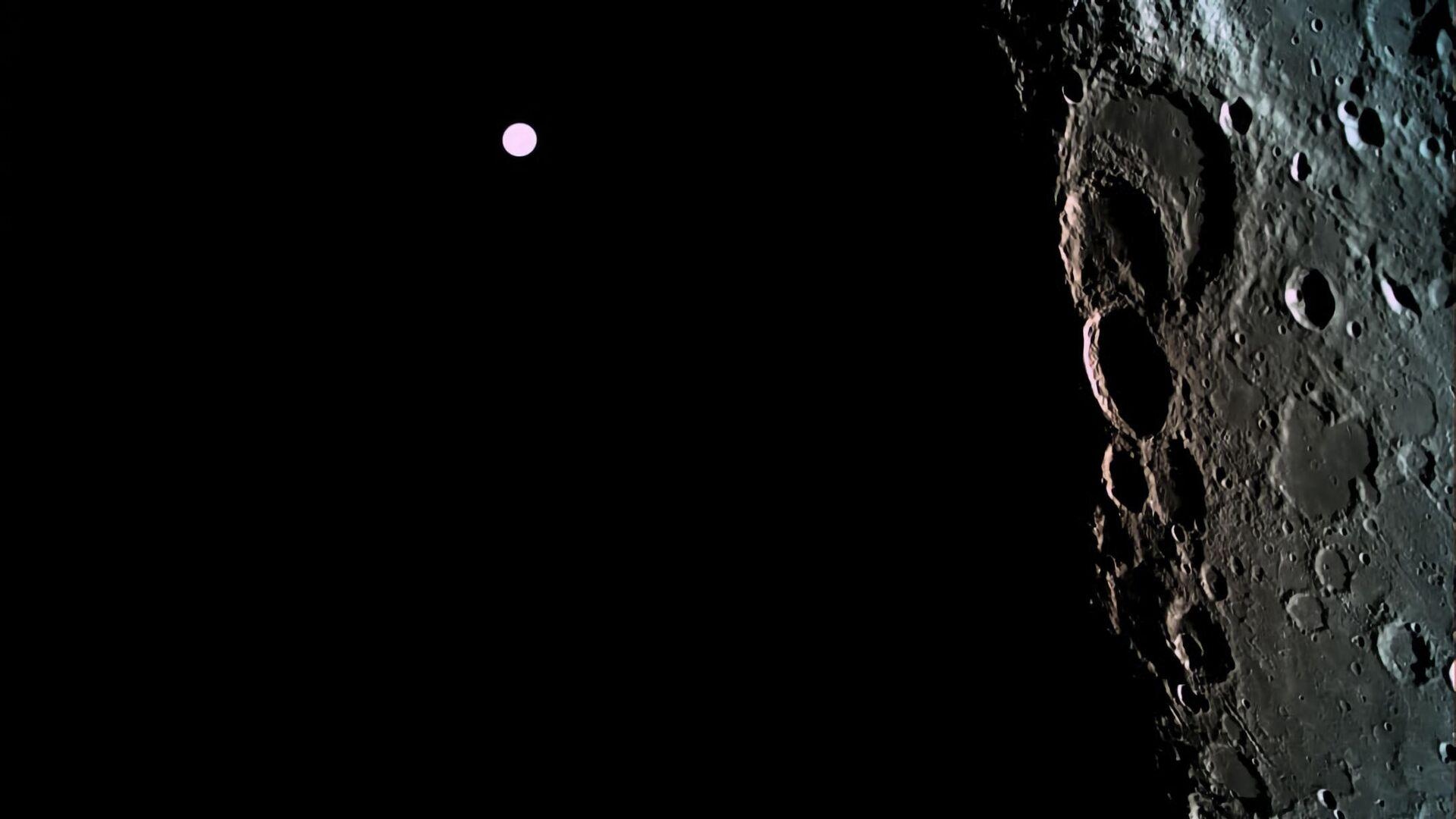 Коллективная фотография Луны и Земли, полученная зондом Берешит с высоты в 500 километров - РИА Новости, 1920, 27.11.2020
