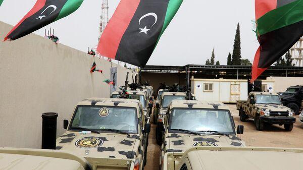 Военная техника, конфискованная у сил ливийского маршала Халифы Хафтара в Завии, к западу от Триполи. 5 апреля 2019