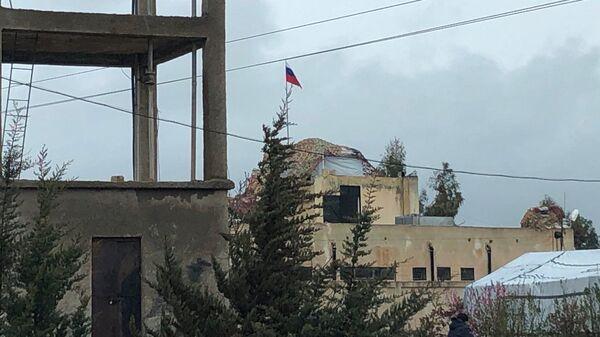 Пункт российской военной полиции в провинции Эль-Кунейтра