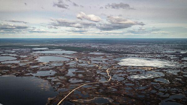 Территория месторождения Бованенково. Ямало-Ненецкий автономный округ