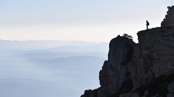 Вид на верхнее плато горы Чатыр-Даг в Крыму