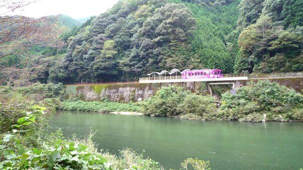 Японская станция Seiryu Miharashi Eki, расположенная на линии Nishikigawa Seiryu