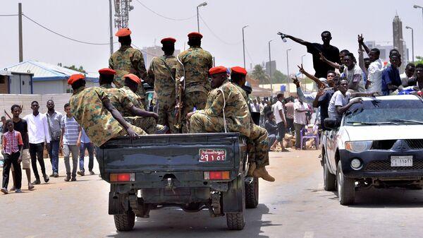 Военный автомобиль в Хартуме, Судан