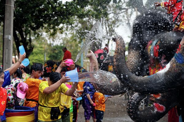 Фестиваль Сонгкран в Аюттхая, Таиланд