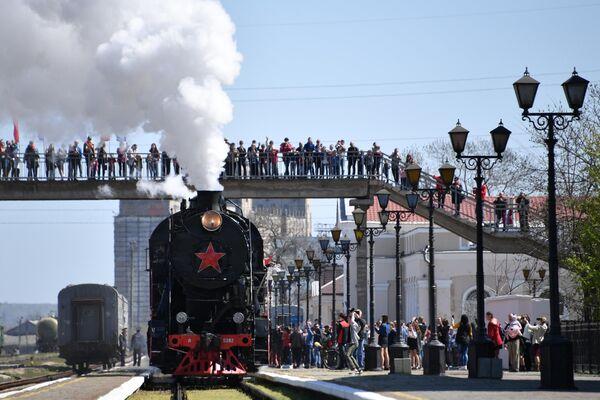 Прибытие Поезда Победы в Керчь