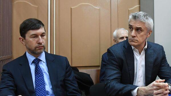 Основатель фонда Baring Vostok Майкл Калви, обвиняемый в мошенничестве на 2,5 миллиарда рублей, на заседании в Басманном суде Москвы. 12 апреля 2019