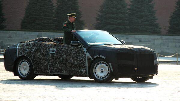 Автомобиль Aurus на Красной площади в Москве