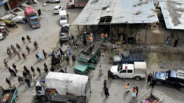 На месте взрыва в городе Кветта, Пакистан. 12 апреля 2019