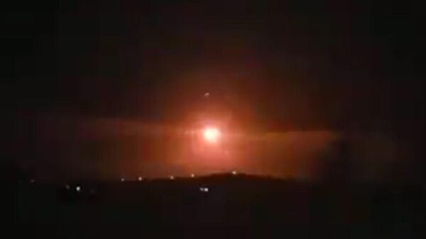 Появилось видео перехвата ракет сирийской ПВО