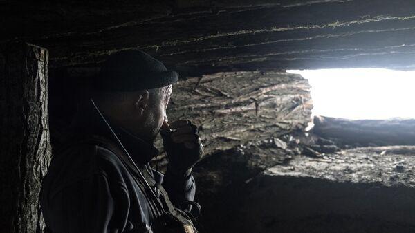 Военнослужащий ДНР в Донецкой области