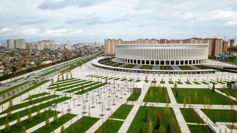 Территория парка возле стадиона ФК Краснодар