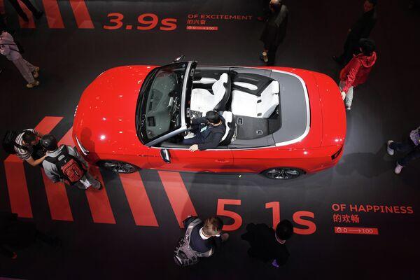 Автомобиль Audi S5 на автосалоне в Шанхае