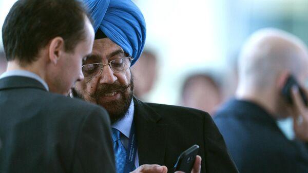 Сопредседатель генерального совета Ассамблеи народов Евразии Далбир Сингх (Индия) во время Ялтинского международного экономического форума