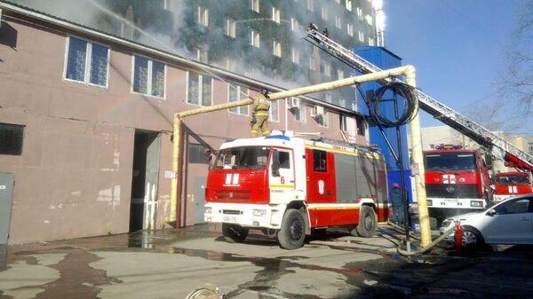 Пожар в бизнес-центре Аврора в Челябинске. 18 апреля 2019