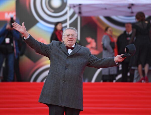 Лидер фракции ЛДПР Владимир Жириновский на открытии 41-го Московского Международного кинофестиваля