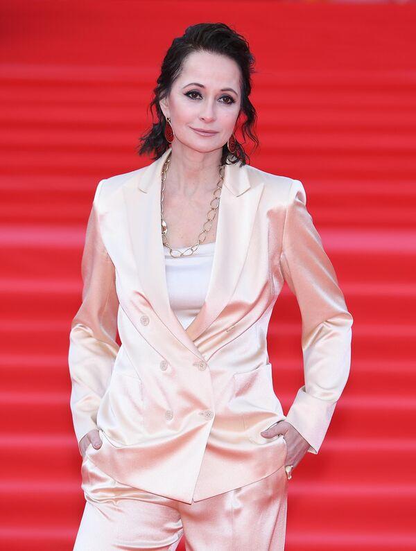 Актриса Ольга Кабо на открытии 41-го Московского Международного кинофестиваля (ММКФ)