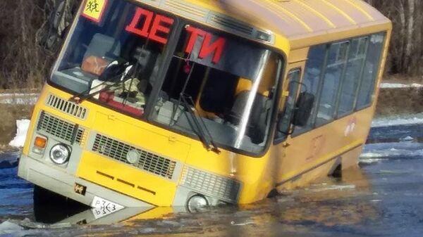 На месте ДТП с участием школьного автобуса в Белорецком районе Башкирии