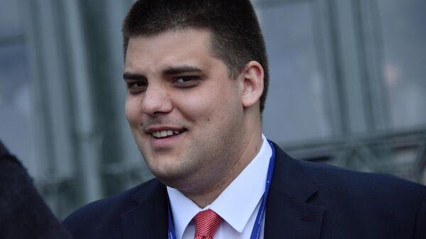 Заместитель председателя Сербской радикальной партии (СРП) Александр Шешель